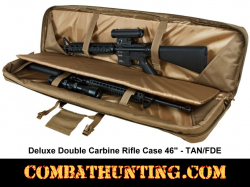 Double Tactical Rifle Case 46 Inches Tan/FDE
