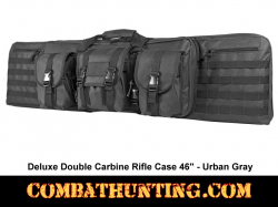 Double Tactical Rifle Case 46 Inches Urban Gray