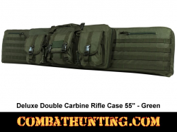 Double Tactical Rifle Case 55 Inches Green