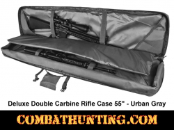 Double Tactical Rifle Case 55 Inches Urban Gray