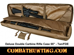 Double Tactical Rifle Case 55 Inches Tan/FDE