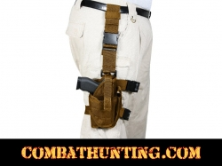 Deluxe Adjustable Tactical Drop Leg Holster Coyote