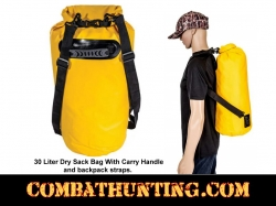 30 Liter Dry Bag With Carry Handle & Back Pack Straps