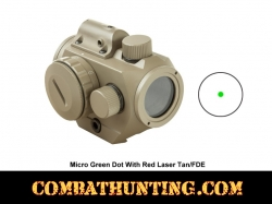 Micro Green Dot With Red Laser Tan/FDE