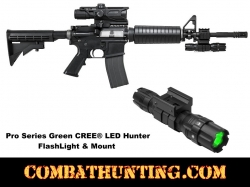 Pro Series Green LED Hunter Flashlight & Mount