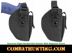Universal Holster For Pistols With Magazine Pouch
