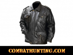 Leather Field Jacket Stone Design