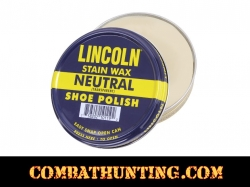 Lincoln Stain Wax Neutral Shoe Polish