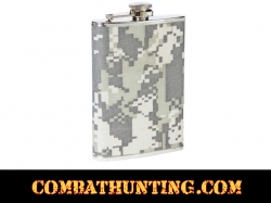 8oz Stainless Steel Flask with Digital Camo Wrap