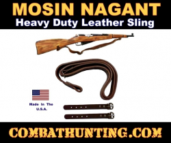Mosin Nagant Leather Sling For Sale Fits M44, M38, M59 Rifles