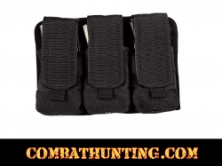 Triple Mag Pouch Molle Black Holds 6 Mags