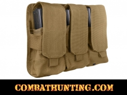 Triple Mag Pouch Molle Coyote Brown Holds 6 Mags