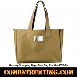 FDE Tan Grocery Shopping Bag-Tote Bag For Men