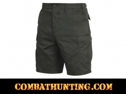 Olive Drab Military Style BDU Cargo Shorts
