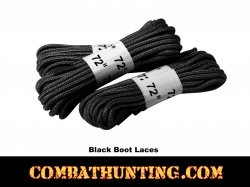 "Black Military Boots Laces 72"" - 3 Pack"