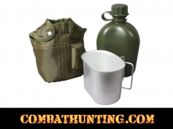 Military Canteen Kit 3 Piece Olive Drab