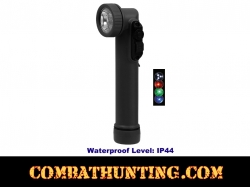 Min Military Style Anglehead Flashlight LED Black