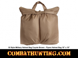 GI Style Military Helmet Bag Coyote Brown - Flyers Helmet Bag