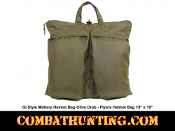GI Style Military Helmet Bag Olive Drab - Flyers Helmet Bag