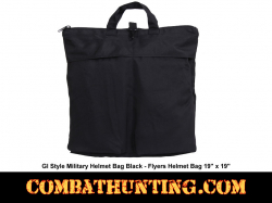 GI Style Military Helmet Bag Black - Flyers Helmet Bag
