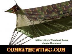 Jungle Hammock Military Style Woodland Camo