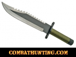 Military Survival Knife With Compass & Sheath
