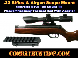 Airgun.22 Weaver Picatinny Tactical Rail Adaptor
