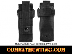 Molle Flashlight Pouch Black