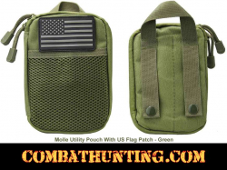 Molle Utility Pouch With US Patch Green
