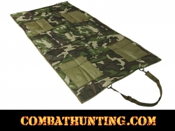 Roll Up Padded Shooting Mat Woodland Camo
