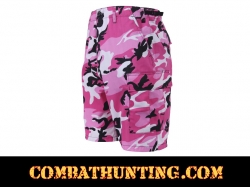 Pink Camouflage BDU Shorts