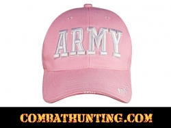 Pink Deluxe Army Embroidered Low Profile Insignia Cap