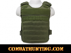 Armor Plate Carrier Vest with MOLLE Webbing Green