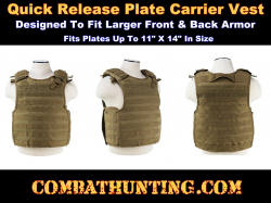 Ncstar Plate Carrier Vest Tan Quick Release