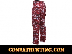 Red Digital Camo BDU Pants