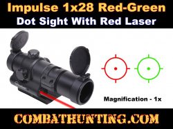 Impulse 1x28 Red/Green Dot Sight with Red Laser