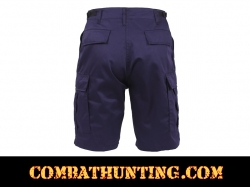 Navy Blue Military Style BDU Cargo Shorts