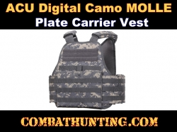 ACU Digital Camo MOLLE Plate Carrier Vest