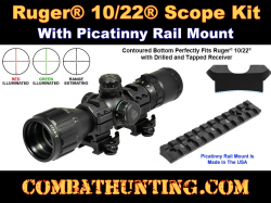 Ruger 10/22 Takedown 3-9X32 Scope & Picatinny Rail Mount Kit