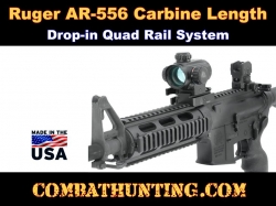 Ruger AR-556 Quad Rail Carbine Length Drop-in