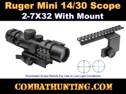 Ruger Mini 14/30 Scope and Side Mounted Scope Rail Mount