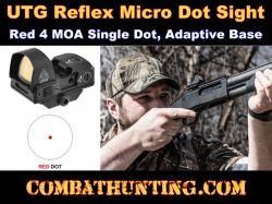 UTG Reflex Micro Dot Red 4 MOA Single Dot Sight, Adaptive Base