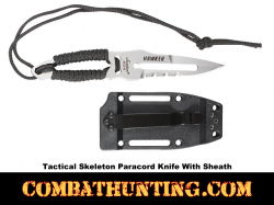 Skeleton Paracord Knife With Sheath