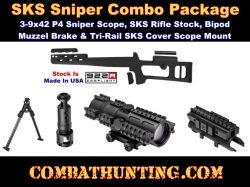 SKS Scope Mount Sks Stock Bipod Combo Package