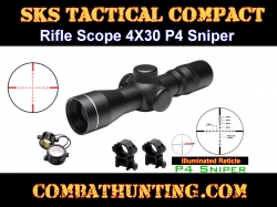 SKS Rifle 4X30 Scope Illuminated Sniper