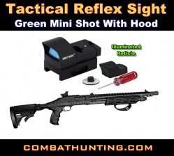 Green Mini Shot Reflex Sight With Sunshade