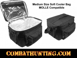 Medium Insulated Cooler Lunch Box With Molle Pal Webbing Black