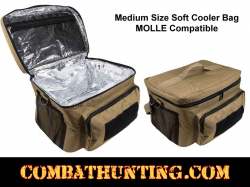 Medium Insulated Soft Cooler Lunch Bag With Molle Pal Webbing Tan/FDE