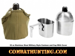 Stainless Steel Canteen With Cup And Cover Kit