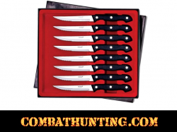 Steak Knife Set 8pc Stainless Steel Blades Dishwasher Safe